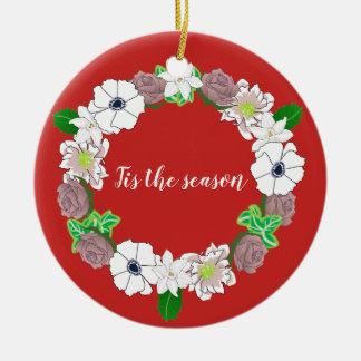 Ornamento da árvore de uma grinalda do Natal
