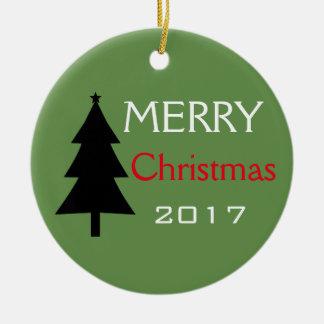 Ornamento da árvore do Feliz Natal