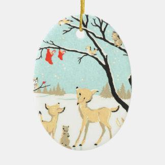 Ornamento da árvore dos bichos do Natal