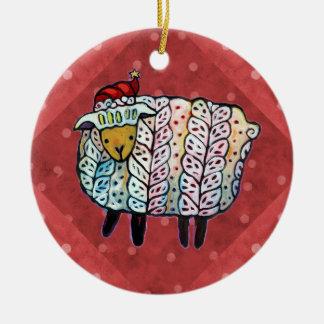 Ornamento da árvore dos carneiros do Natal