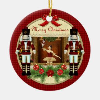 Ornamento da bailarina do Nutcracker do Natal