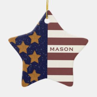 Ornamento da bandeira americana