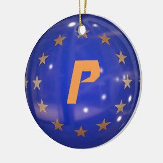 Ornamento da bandeira da União Europeia de