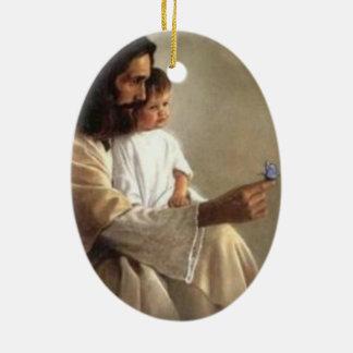 Ornamento da borboleta de Jesus e de bebê