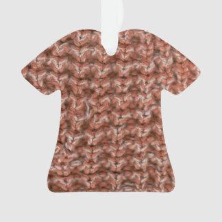 Ornamento da camisa da malha do vermelho e do
