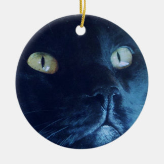 Ornamento da cara do gato preto