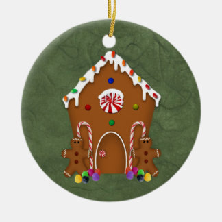 Ornamento da casa de pão-de-espécie