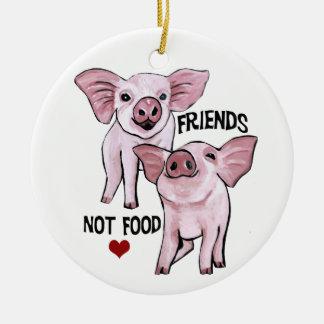 Ornamento da comida dos amigos não