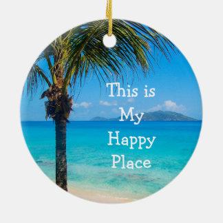 Ornamento da decoração da praia do Natal: Meu
