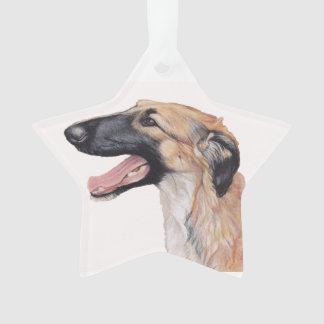 Ornamento da estrela da arte do cão do Wolfhound