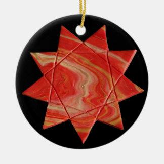 Ornamento da estrela de Nonagram ou de Enneagram