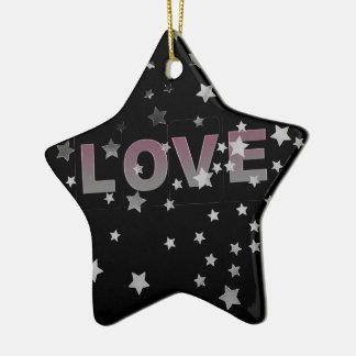 Ornamento da estrela do amor
