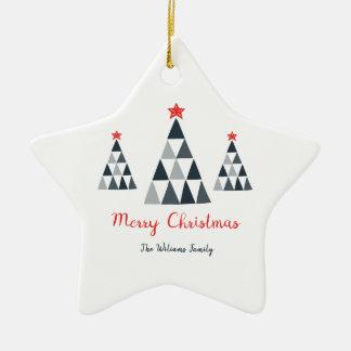 Ornamento da estrela do Feliz Natal
