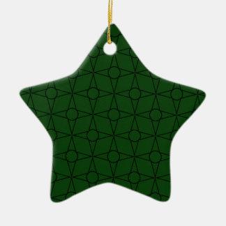 Ornamento da estrela do funk do vintage, verde