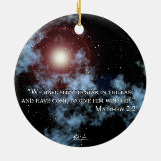 Ornamento da estrela do Natal (verso)