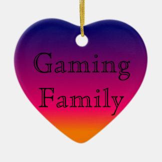 Ornamento da família do jogo