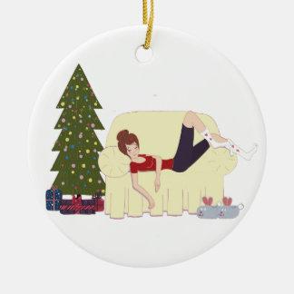 Ornamento da felicidade do Natal
