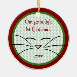 Ornamento da foto da lembrança do gato do gatinho