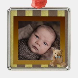 Ornamento da foto do bebê do urso de ursinho de