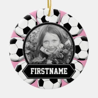Ornamento da foto do futebol para a juventude