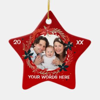 Ornamento da foto do Natal do bebê personalizado