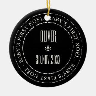Ornamento da foto do selo do círculo do Noel do