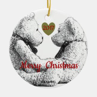 Ornamento da foto do urso de ursinho de HAMbWG