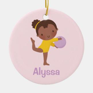 Ornamento da ginástica da menina do Gymnast do