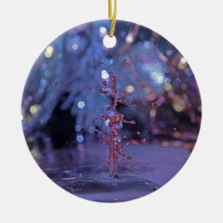 Ornamento da gota da água do tema do Natal