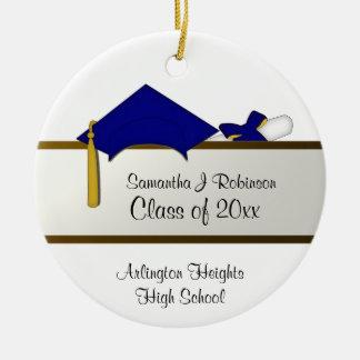 Ornamento da graduação do boné azul