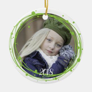 Ornamento da grinalda do Natal das bolhas da neve