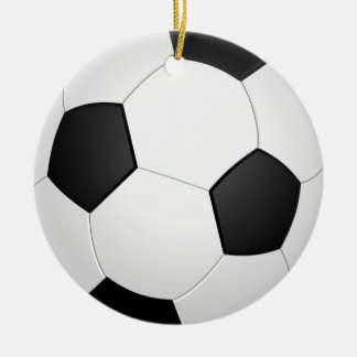 Ornamento da ilustração do futebol da bola de