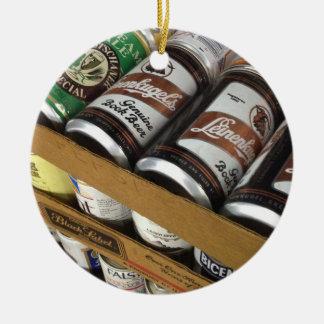 Ornamento da lata de cerveja do vintage