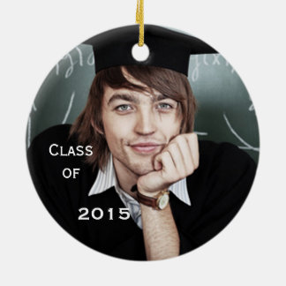 Ornamento da lembrança da foto da graduação
