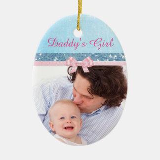 Ornamento da lembrança do bebê da menina do pai