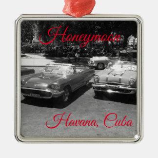 Ornamento da lua de mel de Havana Cuba
