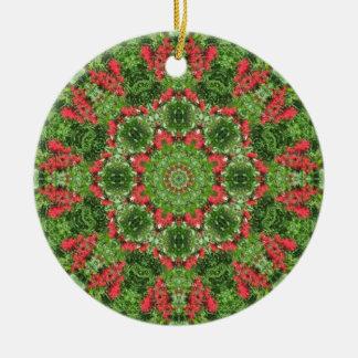 Ornamento De Cerâmica Ornamento da mandala da paz do Natal