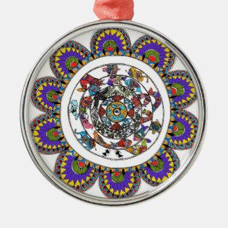 Ornamento da mandala de Madhubani