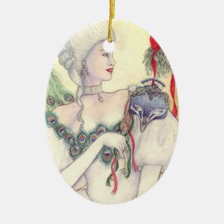 Ornamento da máscara de Yule por Mary Layton