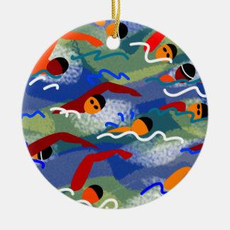 Ornamento da natação da água aberta