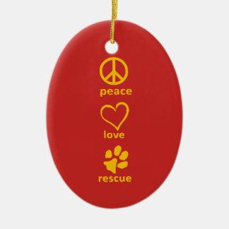 Ornamento da paz/amor/salvamento