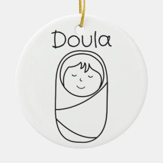 Ornamento da porcelana de Doula