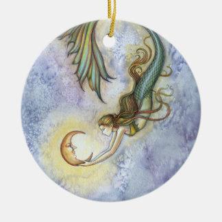 Ornamento da sereia e da lua
