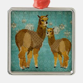 Ornamento das alpacas do diamante do ouro