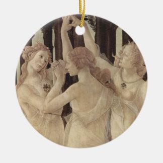 Ornamento das benevolências de Botticelli três
