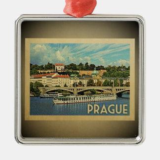 Ornamento das viagens vintage da república checa