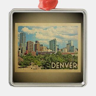 Ornamento das viagens vintage de Denver Colorado