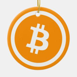 """Ornamento de """"Bitcoin"""" do círculo"""