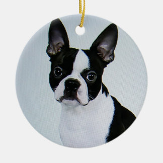 ORNAMENTO DE BOSTON TERRIER