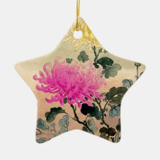 Ornamento De Cerâmica 土屋光逸 de Tsuchiya Koitsu - 菊 do crisântemo